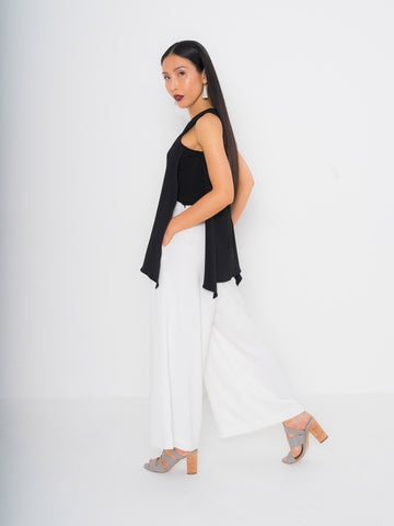 Black Tie Waist Culottes - 1 more color