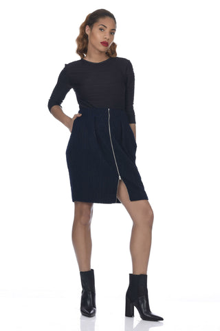 Marigold 2-Way Zipper Front Neoprene Skirt