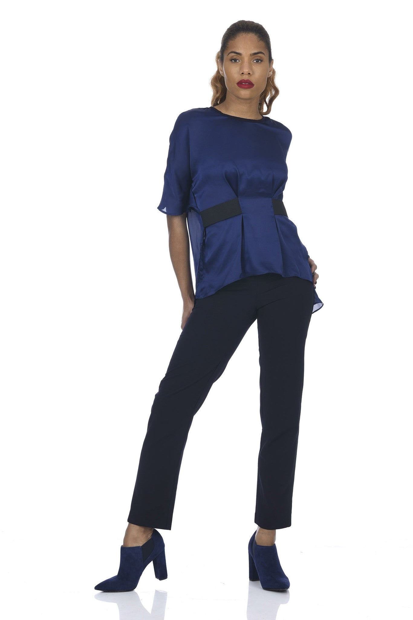 Navy Origami Dolman Top