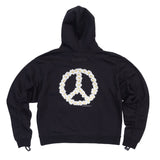 Flower Power Hoodie with Adjustable Sleeves