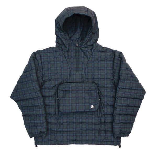 Plaid Tech Pullover Jacket