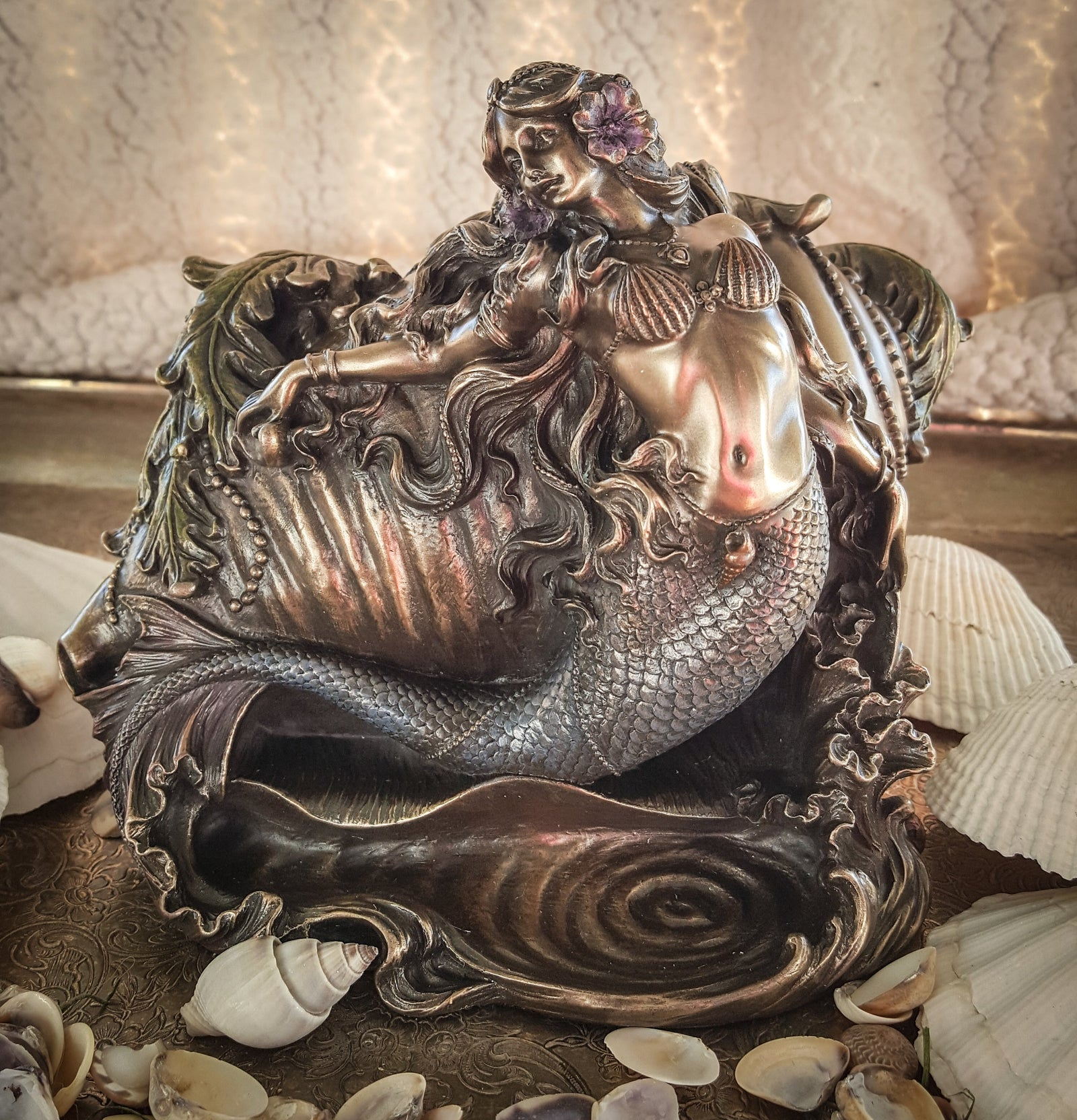 Mermaid & Conch Trinket Box