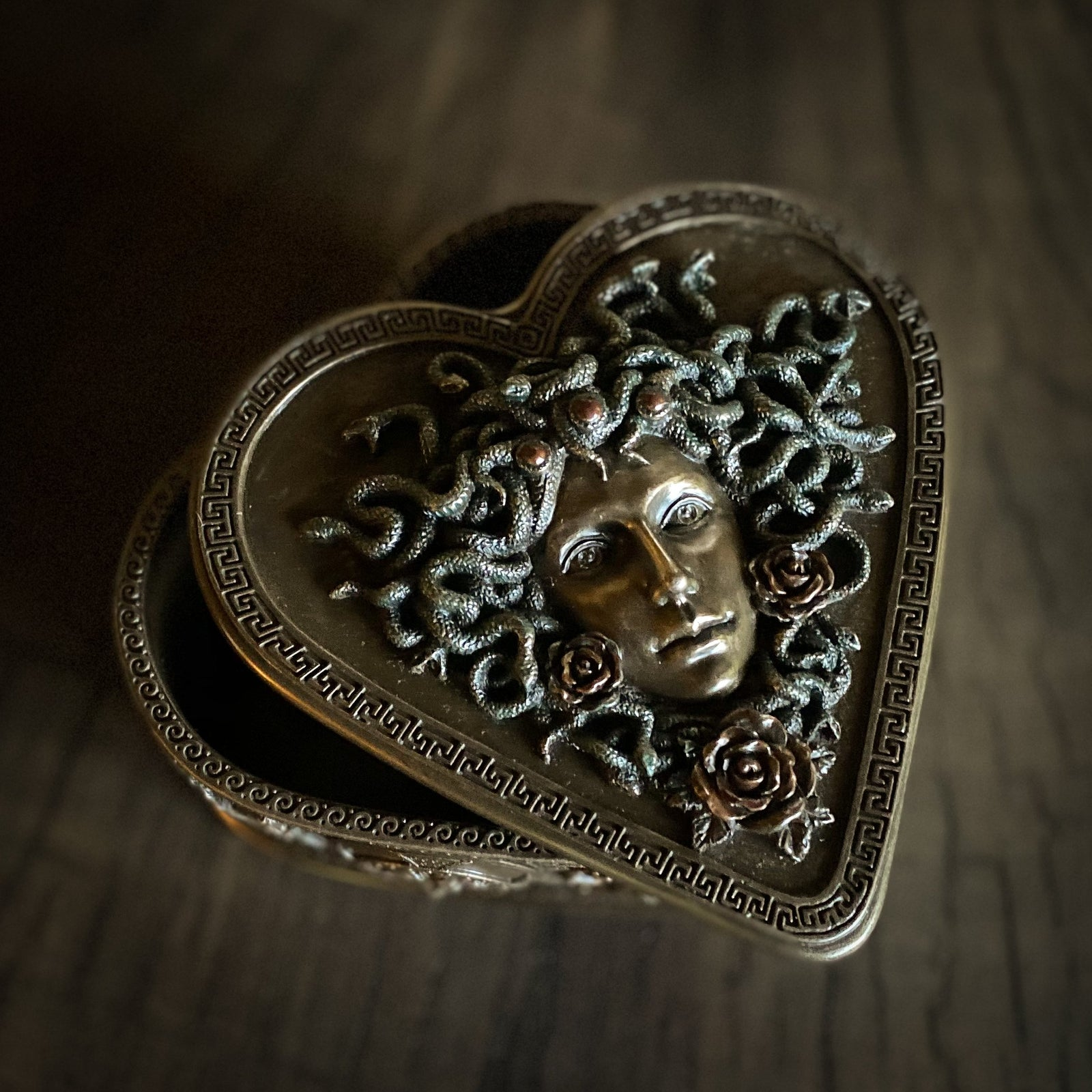 Medusa Heart-Shaped Box