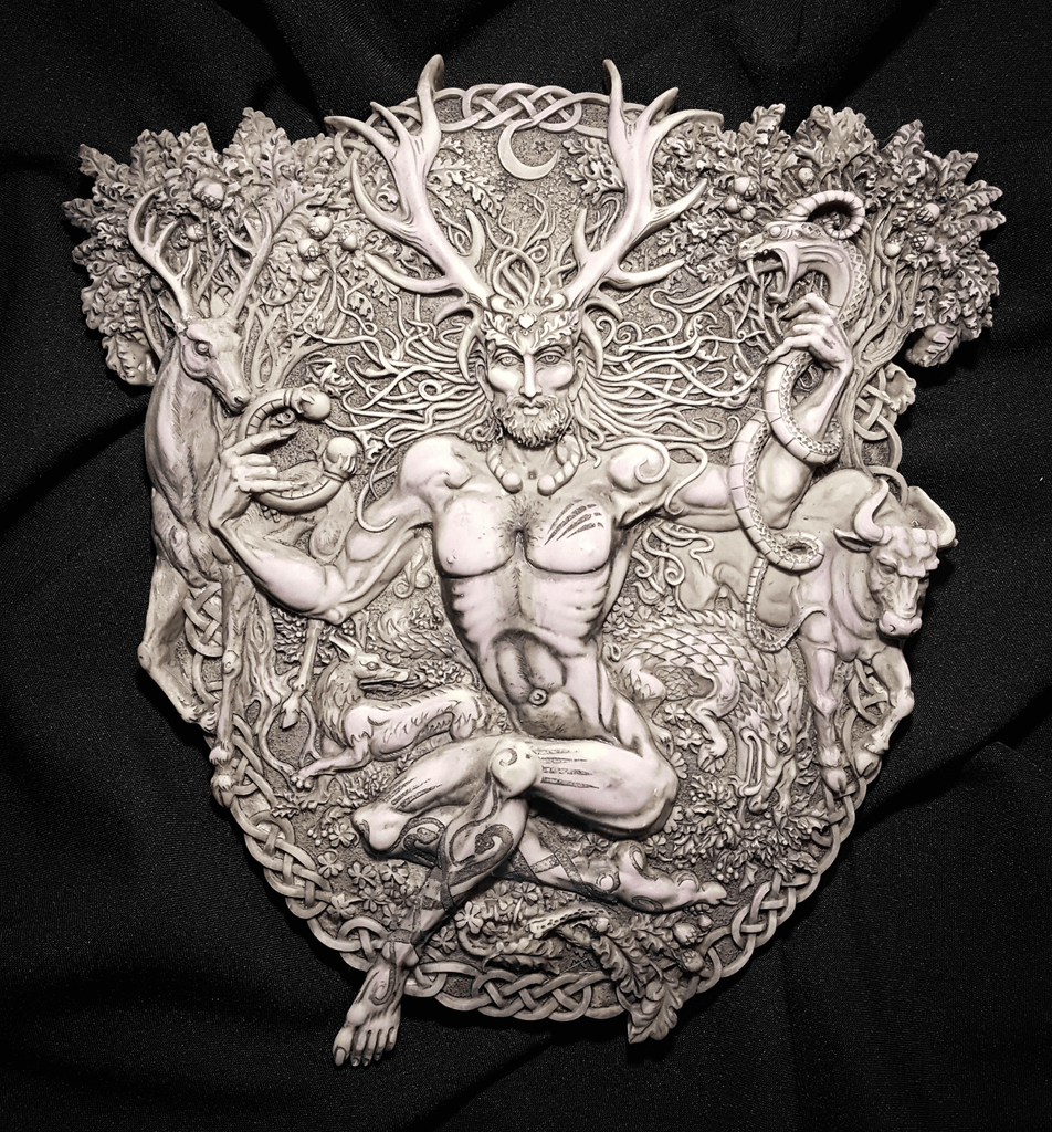 Horned God Cernunnos Plaque
