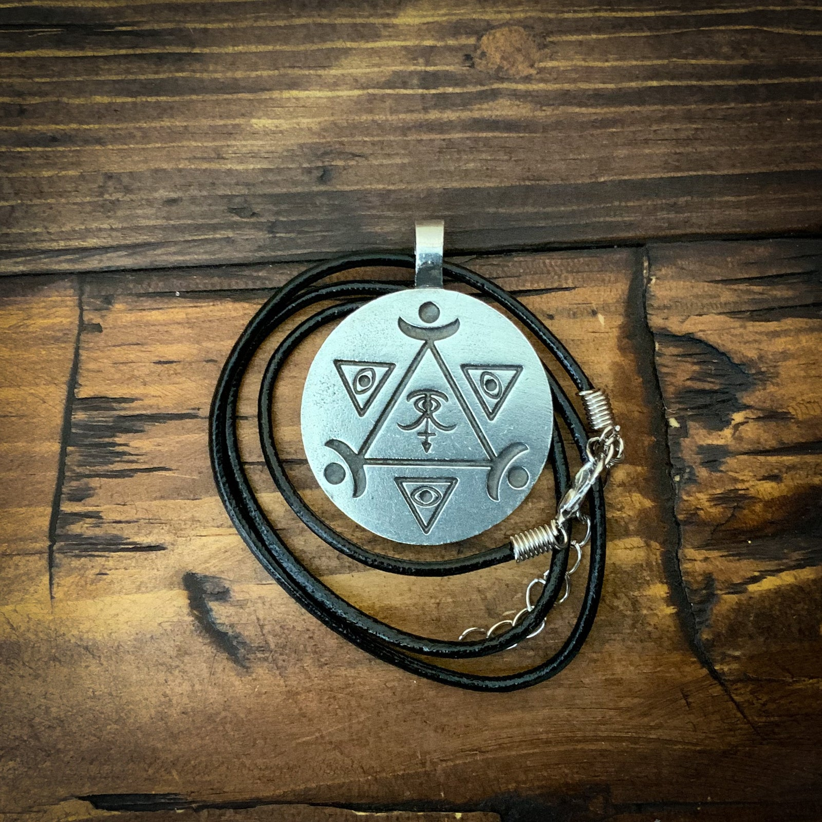 Psychic Sight Spell Coin Pendant