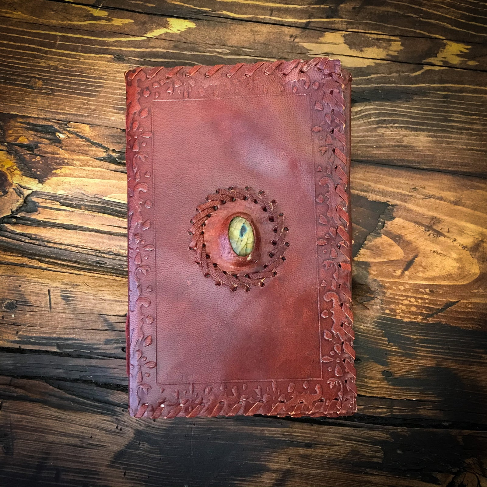 Sacred Oak Book of Shadow w/Labradorite Inlay