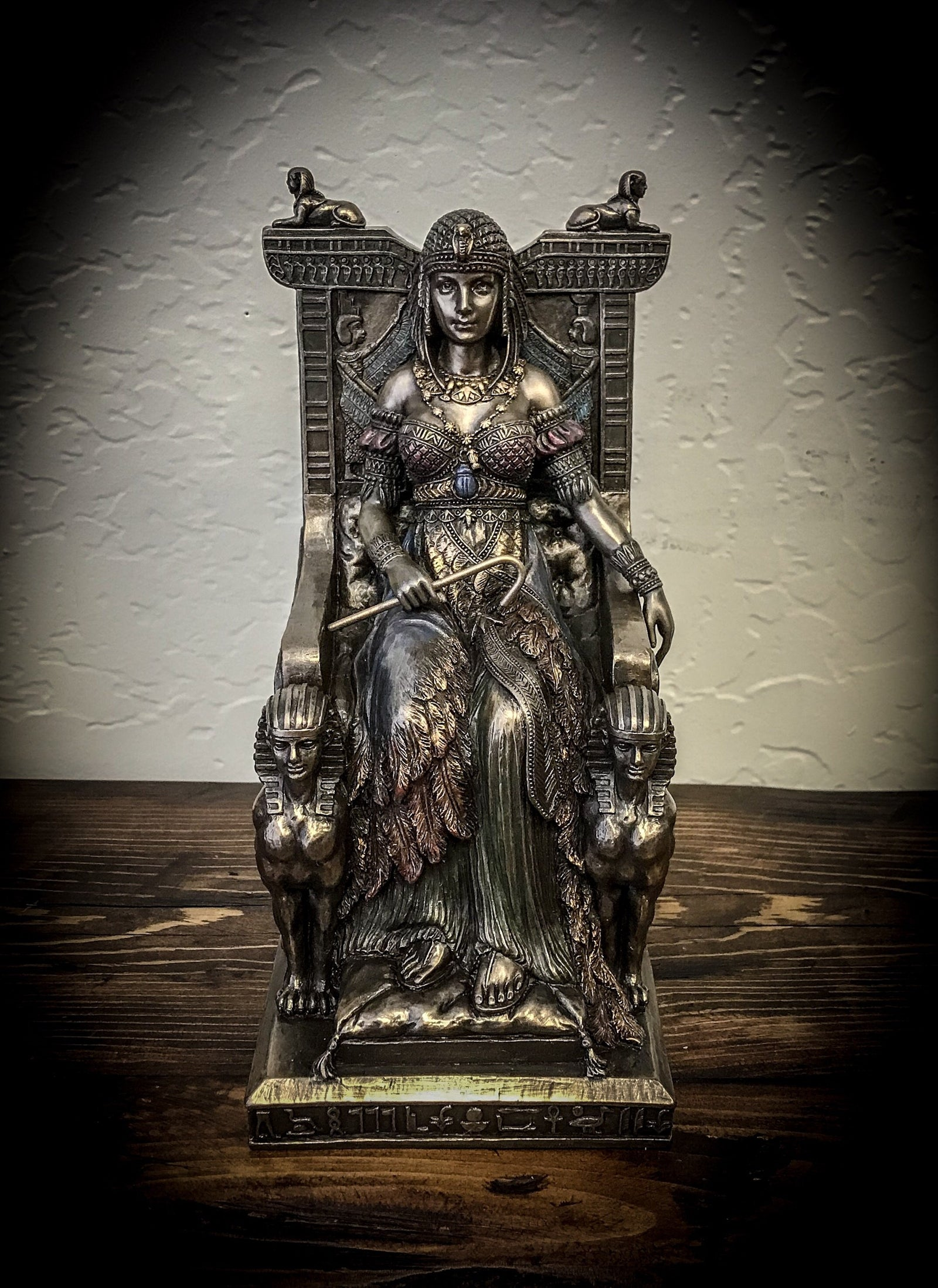 Egyptian Queen Sitting in Throne