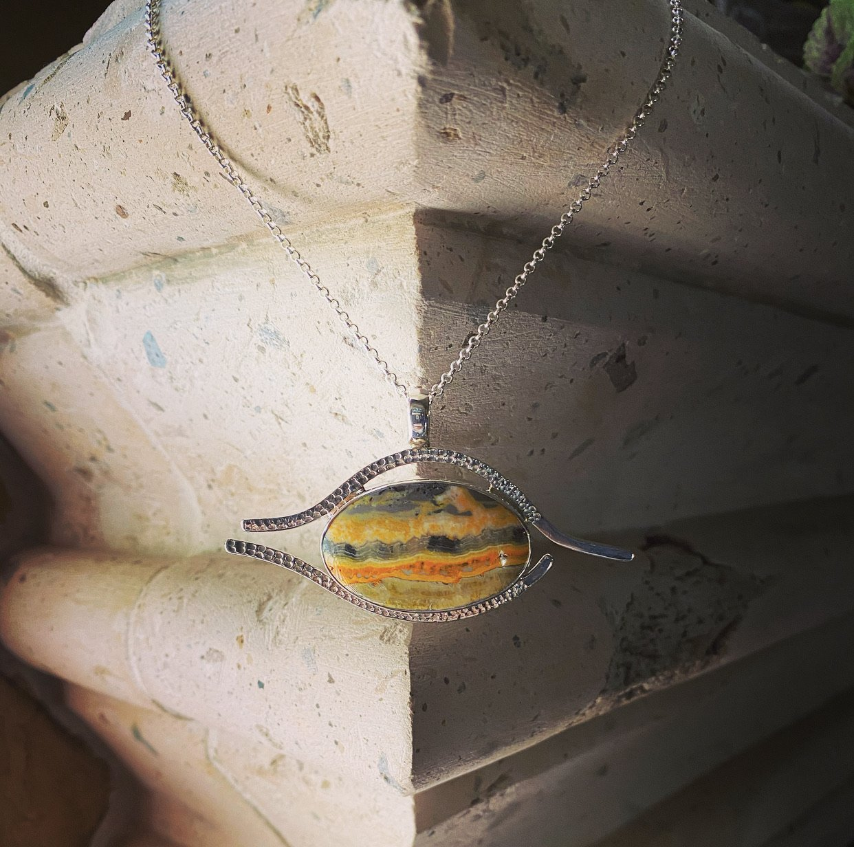 Eye of Ra Pendant (Eclipse Stone/Bumblebee Jasper)