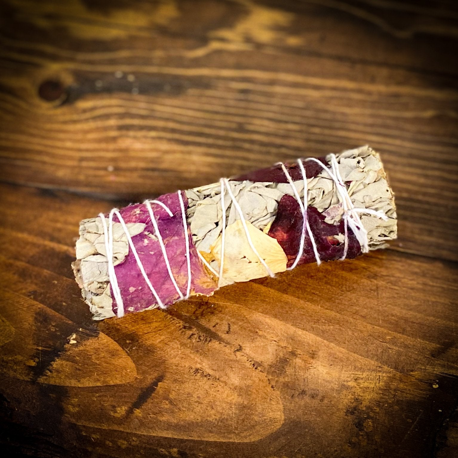 White Sage w/3 Color Rose Petals
