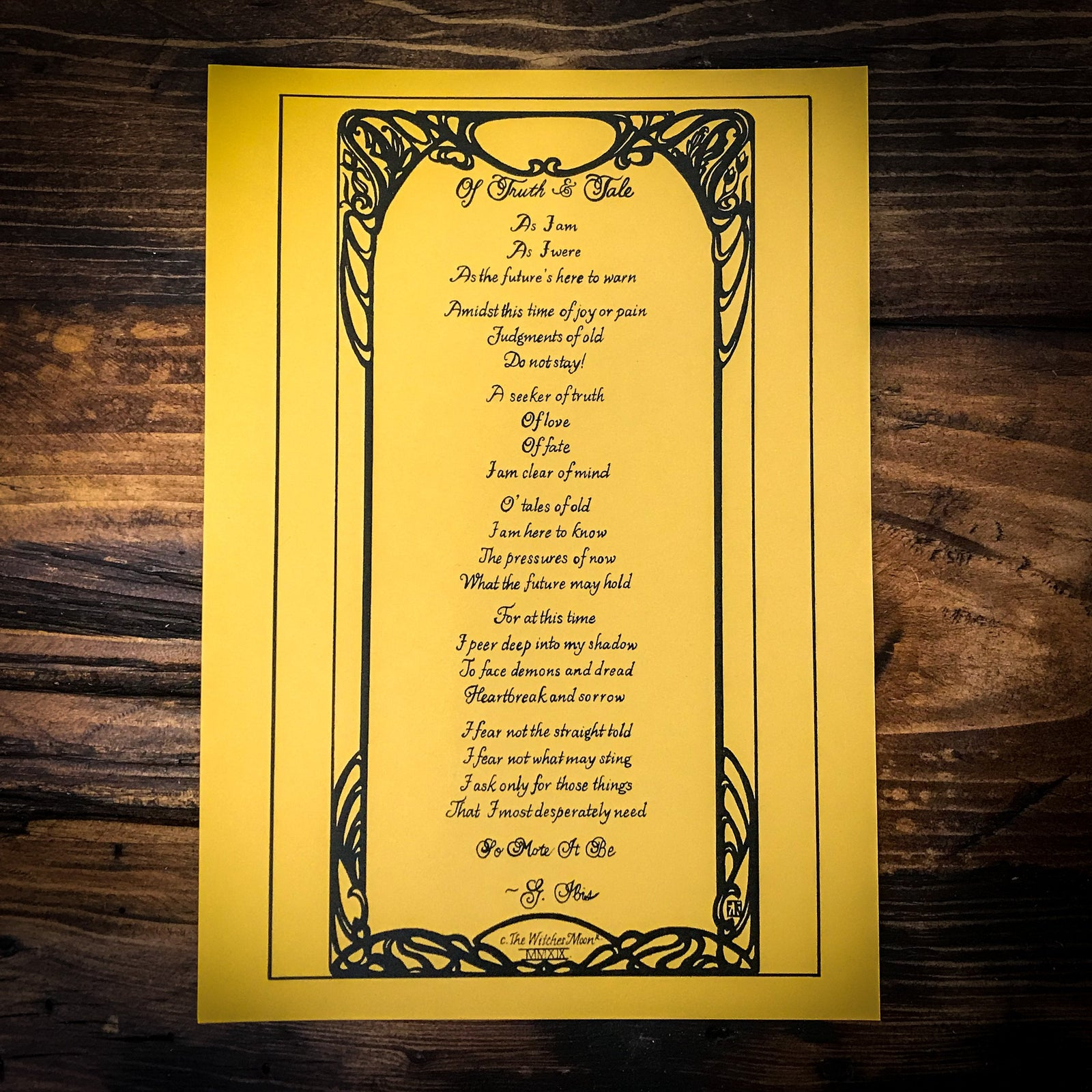 Of Truth & Tale Candle Spell Incantation