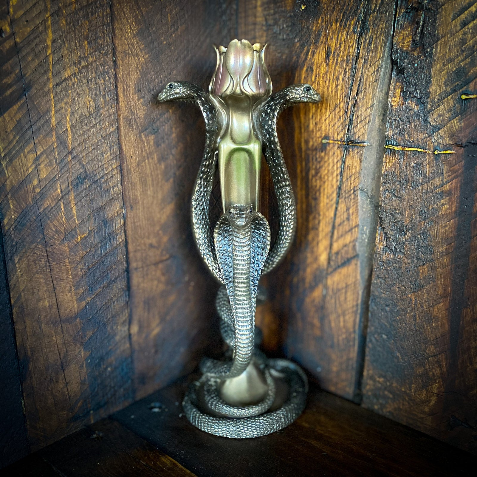 Cobra Candle Holder with Tulip