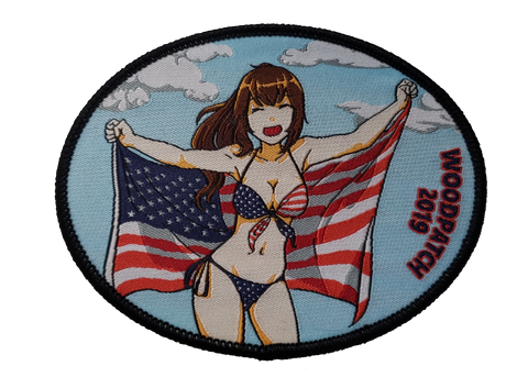 WoodChan 4th of July 2019 Woven Patch - WoodPatch