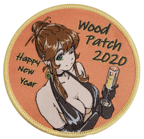 Woodchan New Years 2020 Woven Patch - WoodPatch