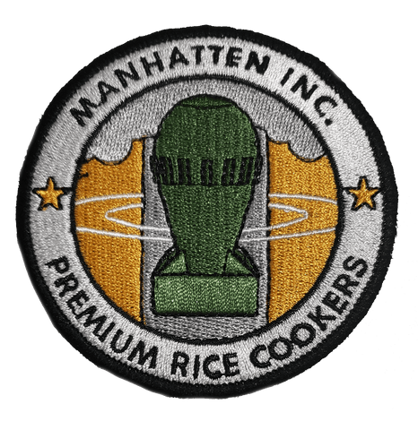 Manhattan Rice Cooker Embroidery Patch - WoodPatch