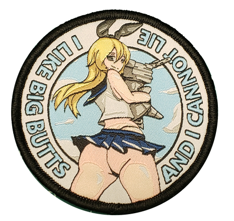 I Like Big Butts Woven Patch