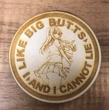 Big Butts Keychain & Patches - WoodPatch