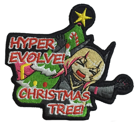 Hyper Evolve! Kurisumasu Tree! Embroidery Patch - WoodPatch