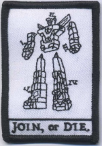 Join or Die Voltron Embroidery Patch - WoodPatch