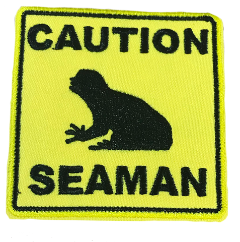 Caution Seaman Embroidery Patch - WoodPatch