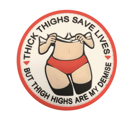 Thick Thigh Vanilla PVC Patch - WoodPatch