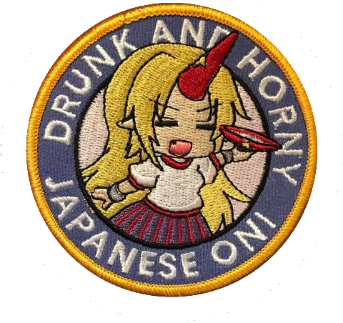 Japanese Oni Embroidery Patch - WoodPatch