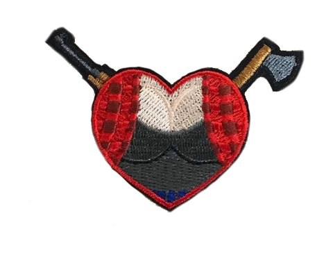 WoodChan HeartPatch Embroidery Patch - WoodPatch