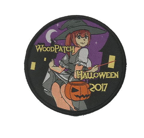 WoodChan Halloween 2017 Woven Patch - WoodPatch