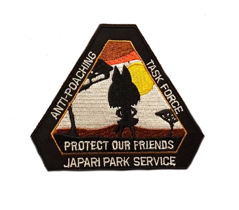 Japari Anti-Poaching Embroidery Patch - WoodPatch
