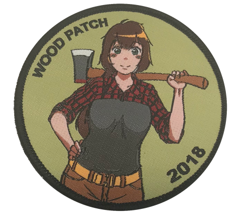 WoodChan 2018 Mascot Woven Patch - WoodPatch