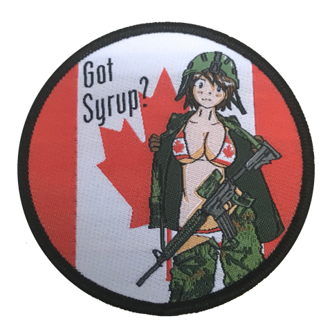 Thicc Syrup Canadian Woven Patch - WoodPatch