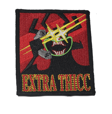 Extra Thicc Aku Embroidery Patch - WoodPatch