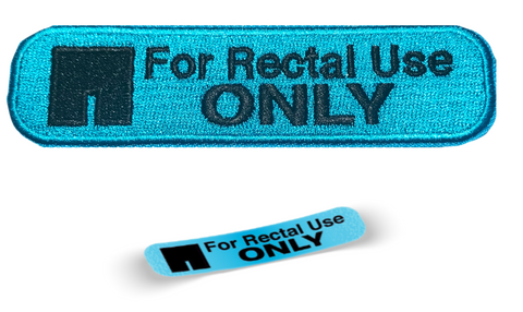 For Rectal Use Only Embroidery Patch - WoodPatch