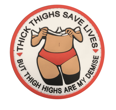 Thick Thighs Chocolate PVC Patch - WoodPatch