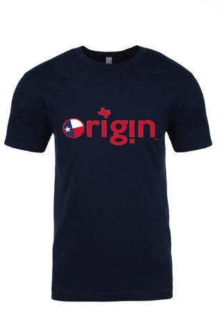 TEXAS ORIGIN CREW NECK - NAVY BLUE