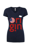 USA ORIGIN WOMEN'S TEE