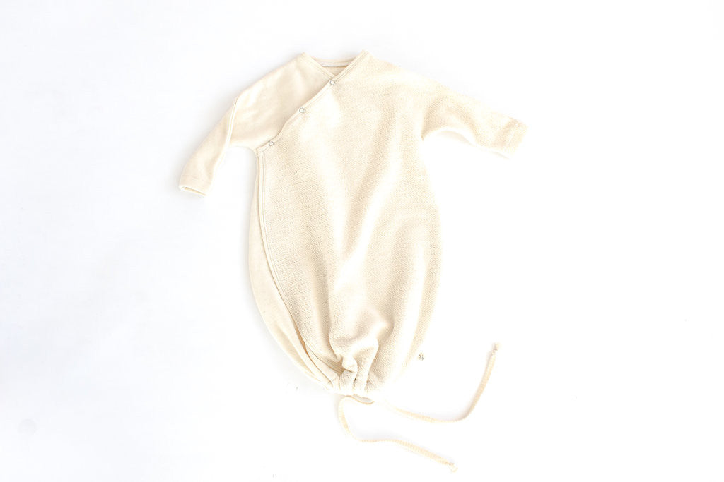 SLEEP SACK IN 'CREAM HERRINGBONE'