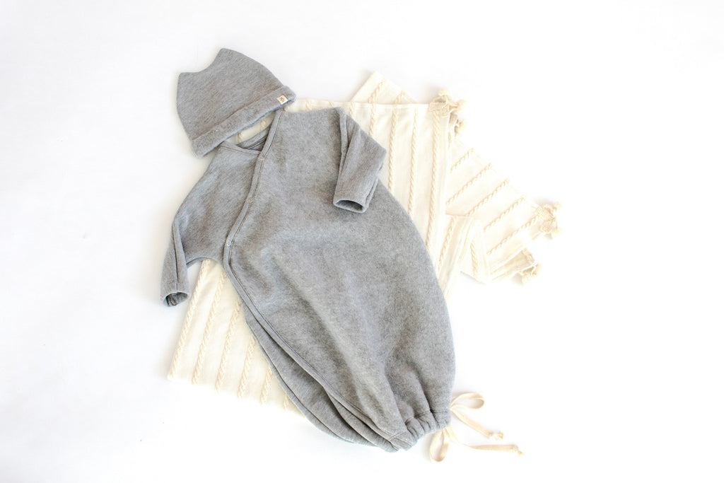 HELLO BABY BUNDLE IN 'GRAY FLEECE'