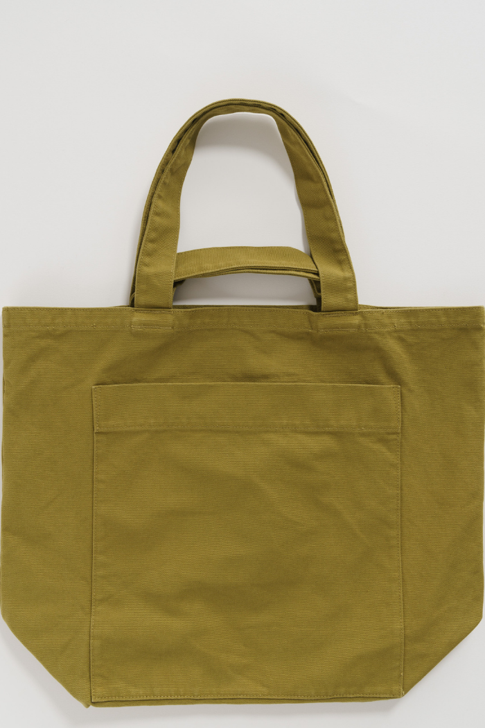 Giant Pocket Tote - Washed Spanish Olive