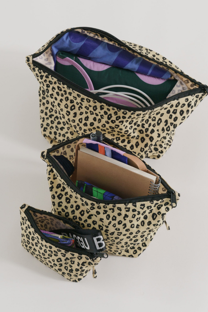 Go Pouch Set - Honey Leopard
