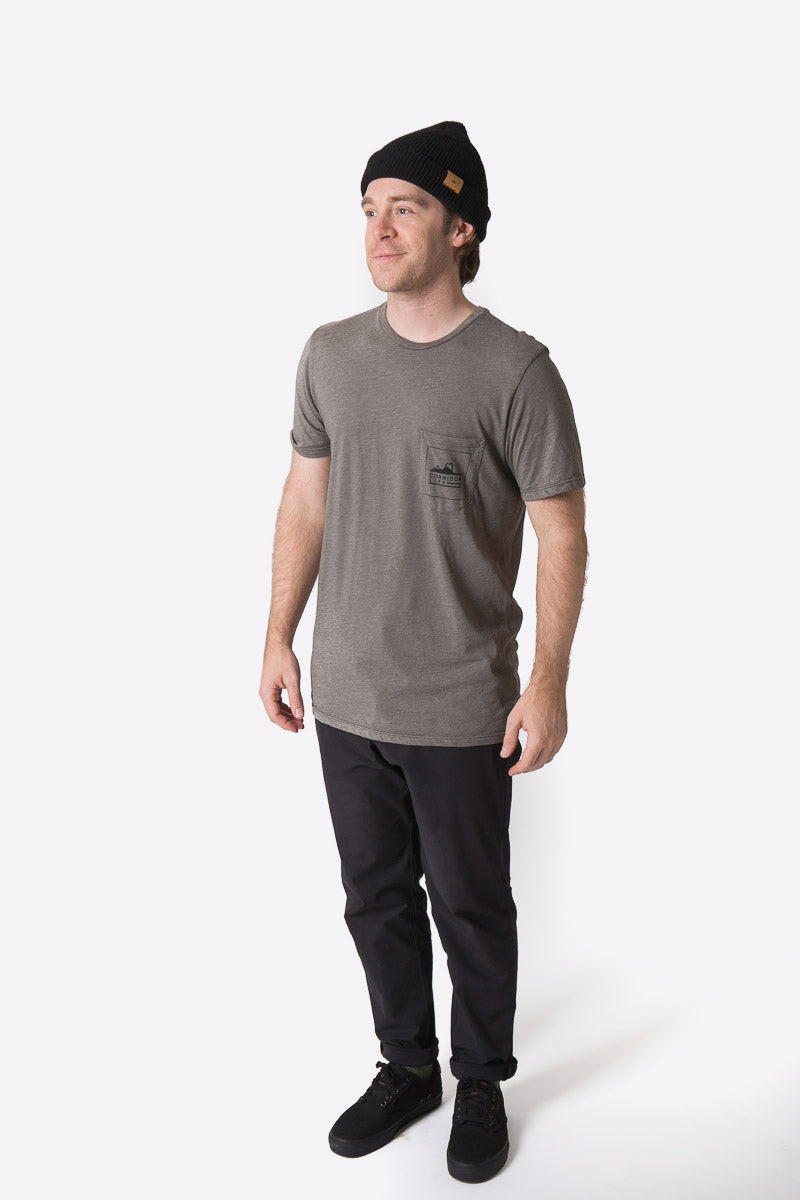 Echo Pocket Tee - Heather Charcoal
