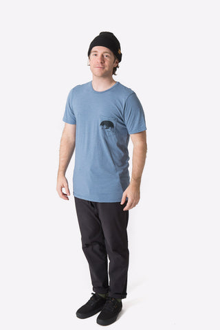 Rohr Pocket Tee - Heather Charcoal