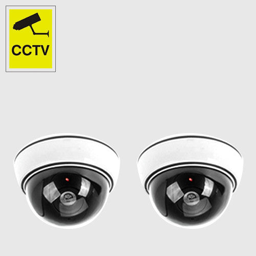 Dummy Round Camera White (2 pcs)