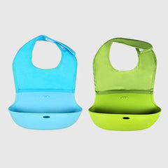 Silicone roll up bib  (2 pcs)