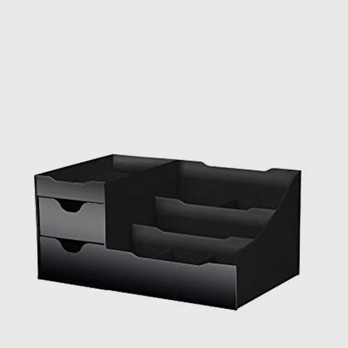 Makeup Organiser With Drawers - Black