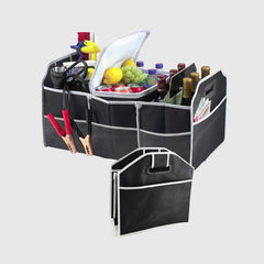 Foldable car boot organizer