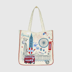 HARRODS - London Town Tote Bag