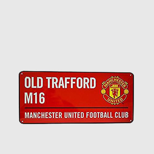 MANCHESTER UNITED - Street sign