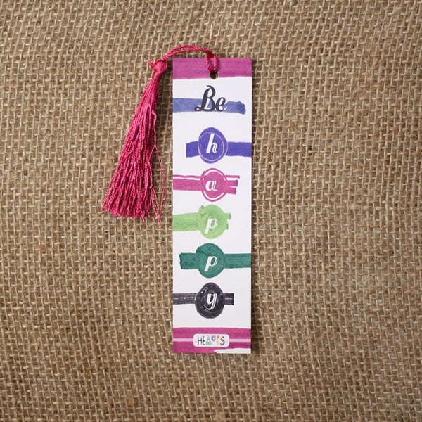 Be happy bookmark
