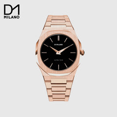 D1 Milano  -  Ultra Thin Rose Gold with Black Dial
