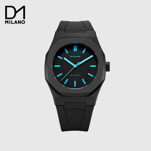 D1 Milano - Casual Watch Analog Silicone Black/Blue